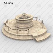 분수, 샤토 자쿠 피 3d model