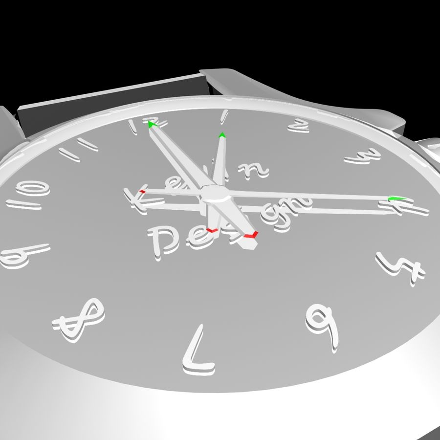 Clock royalty-free 3d model - Preview no. 2