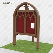 Gothic message board 3d model
