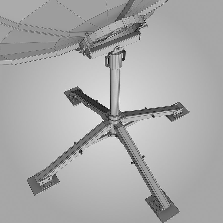 Dish Antenna royalty-free 3d model - Preview no. 1
