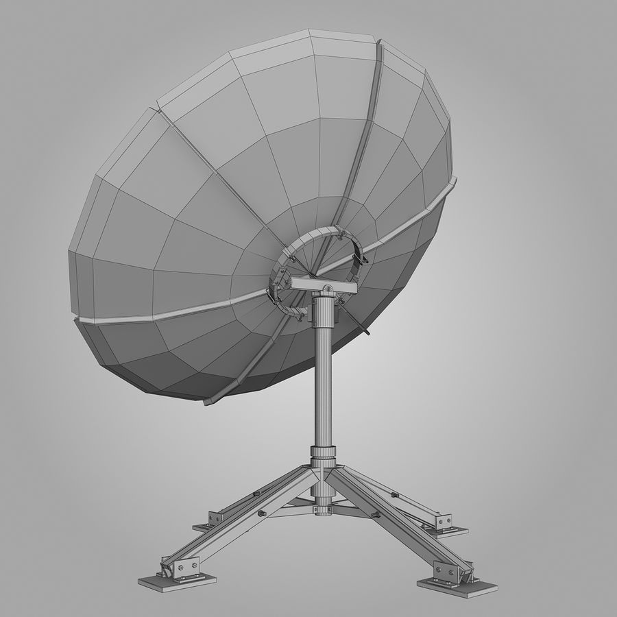 접시 안테나 royalty-free 3d model - Preview no. 9