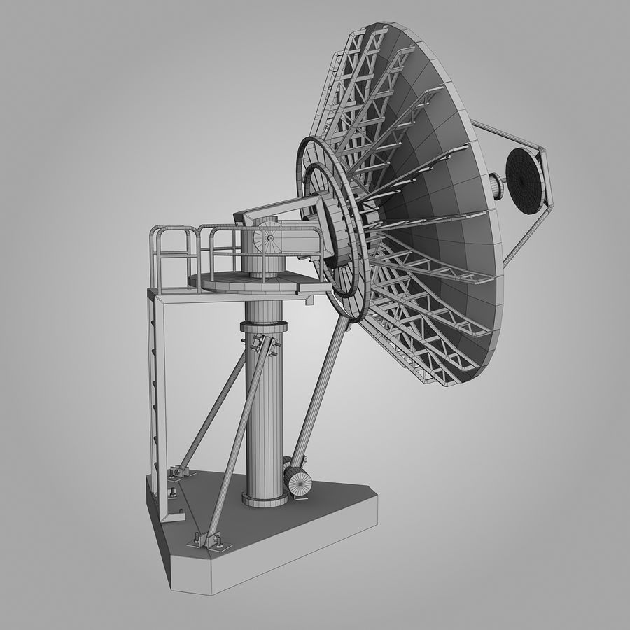 Antenn Big Dish royalty-free 3d model - Preview no. 1