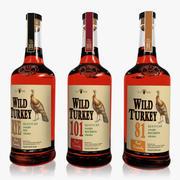 Wild Turkey Bourbon Set 3d model