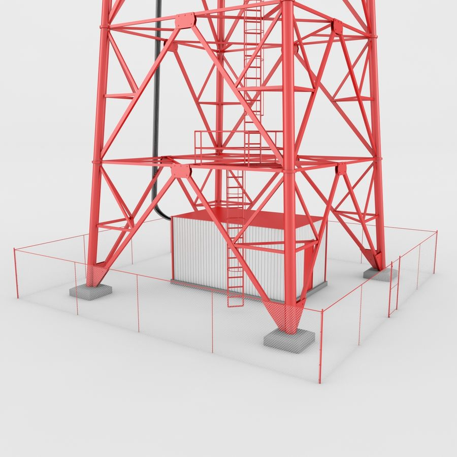 Fernmeldeturm royalty-free 3d model - Preview no. 6