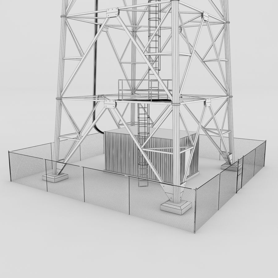 Communication tower royalty-free 3d model - Preview no. 7