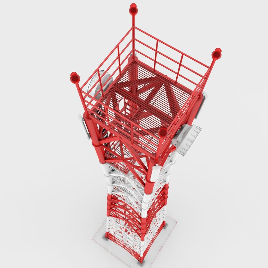 Torre de comunicación royalty-free modelo 3d - Preview no. 8