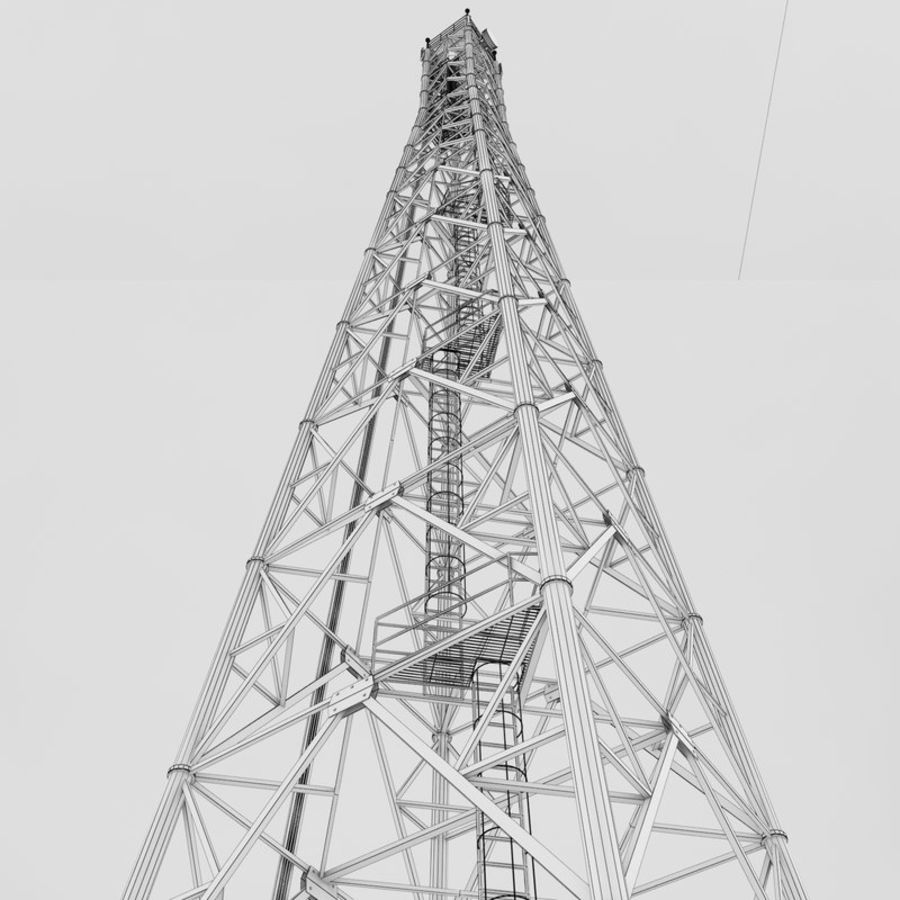 Communication tower royalty-free 3d model - Preview no. 5