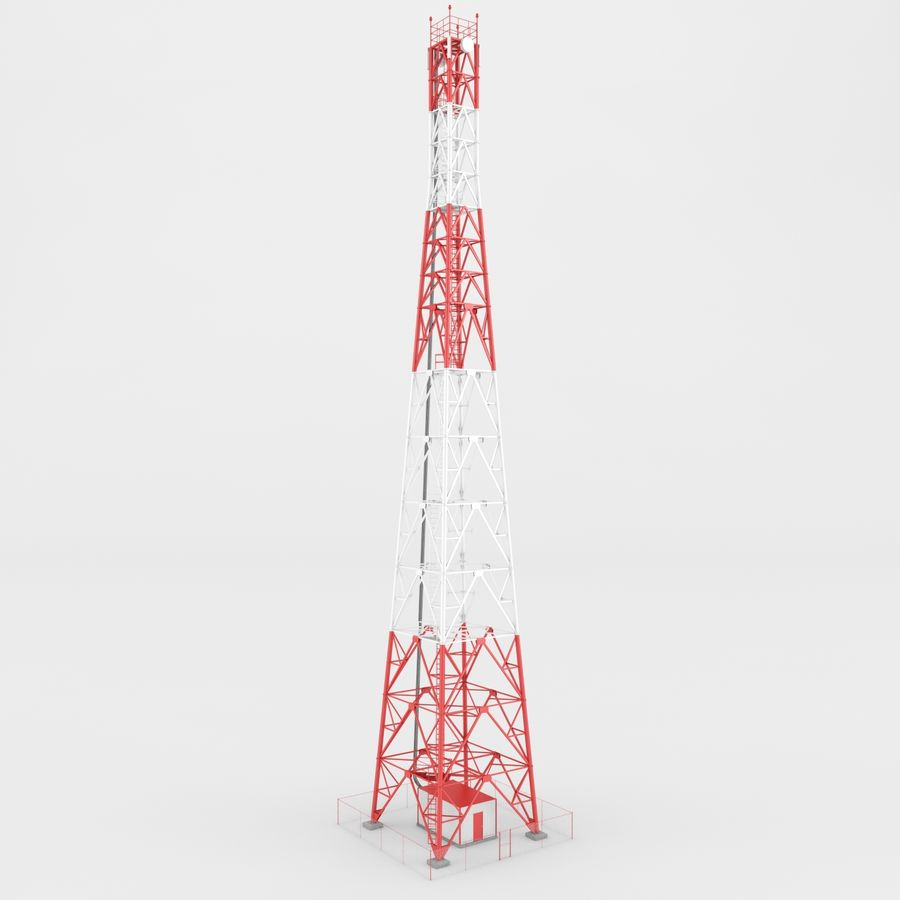 Torre de comunicación royalty-free modelo 3d - Preview no. 2