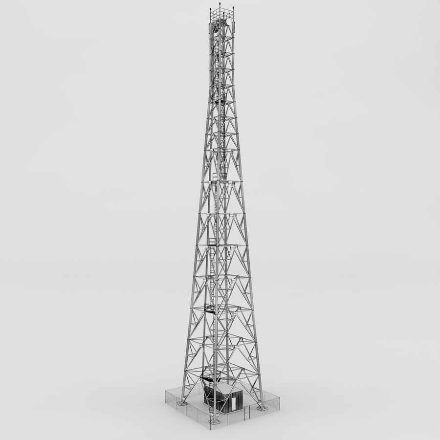 Communication tower royalty-free 3d model - Preview no. 3