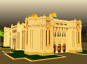 arch buiding islamic 3d model