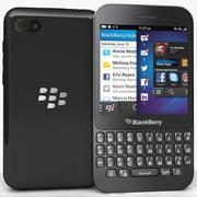 BlackBerry Q5黑色 3d model