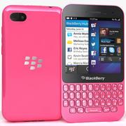 BlackBerry Q5粉色 3d model