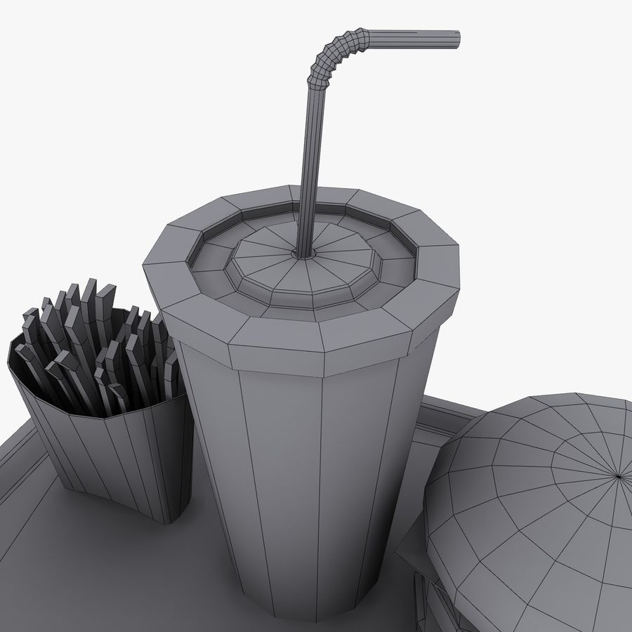 Fast Food royalty-free 3d model - Preview no. 19