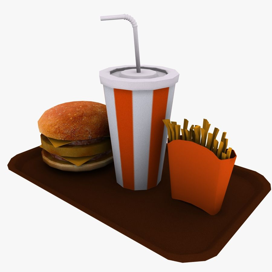 Fast Food royalty-free 3d model - Preview no. 4