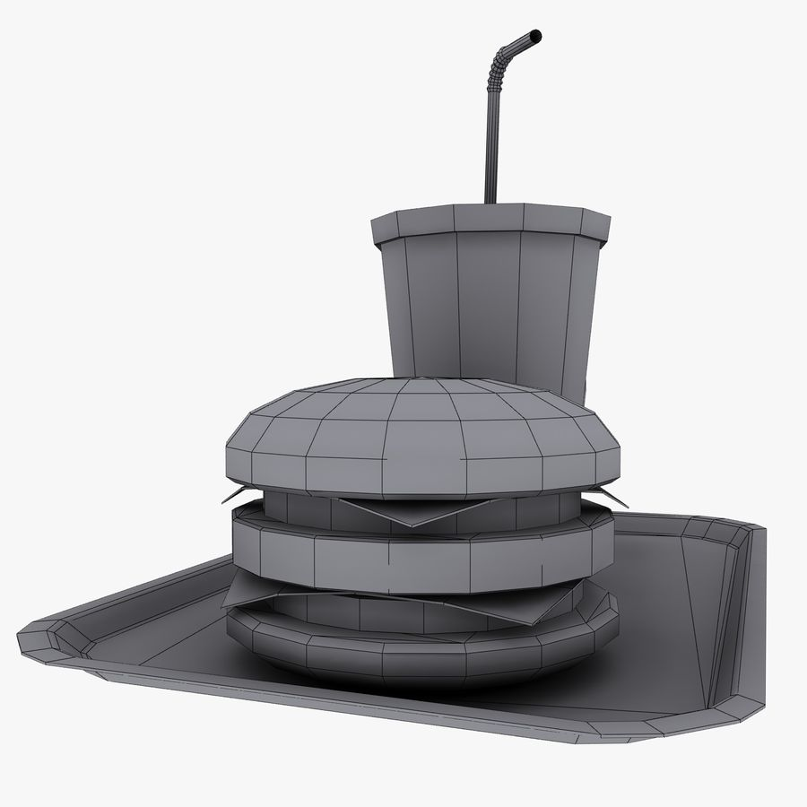 Fast Food royalty-free 3d model - Preview no. 18