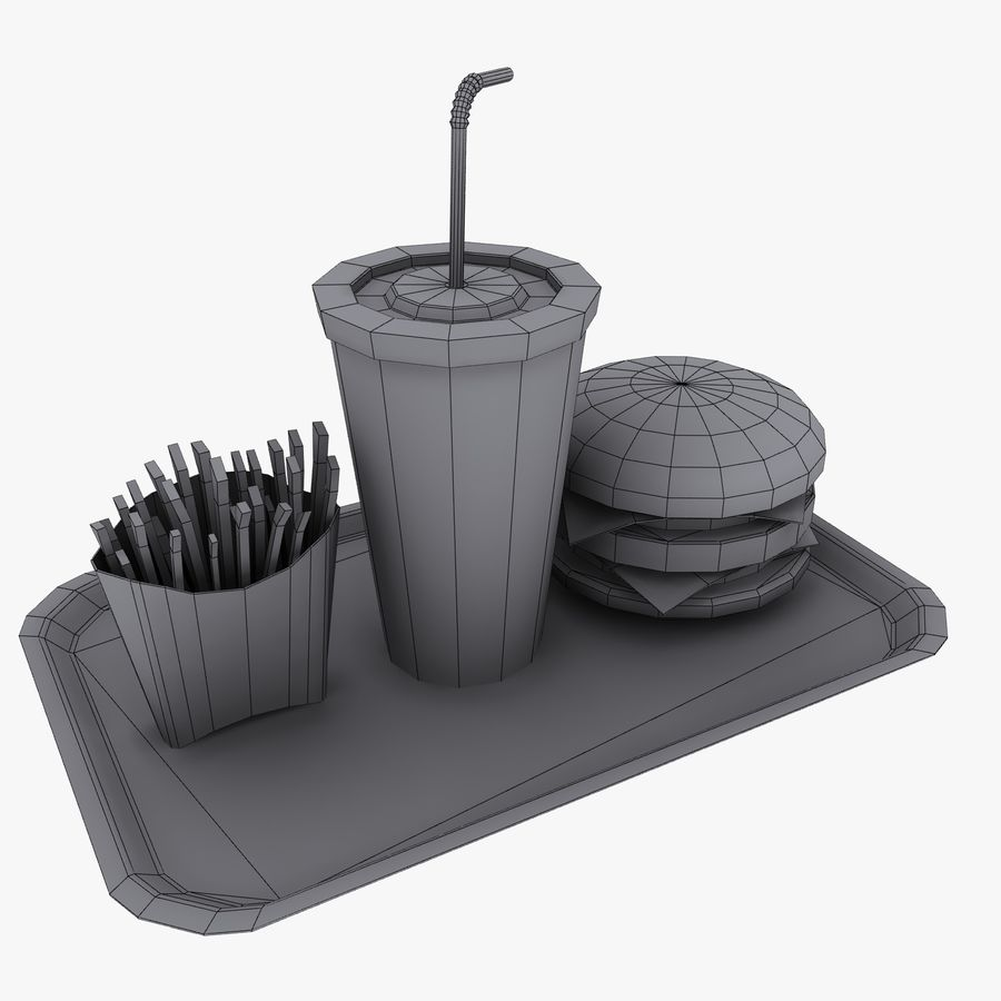 Fast Food royalty-free 3d model - Preview no. 13