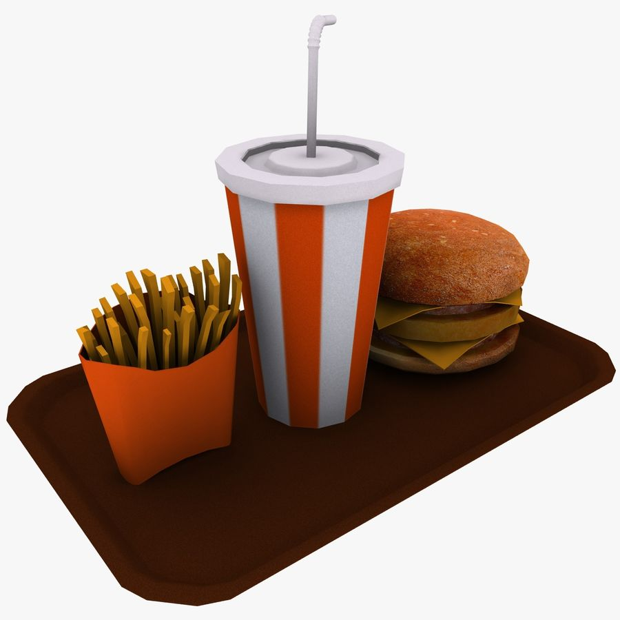 Fast Food royalty-free 3d model - Preview no. 3