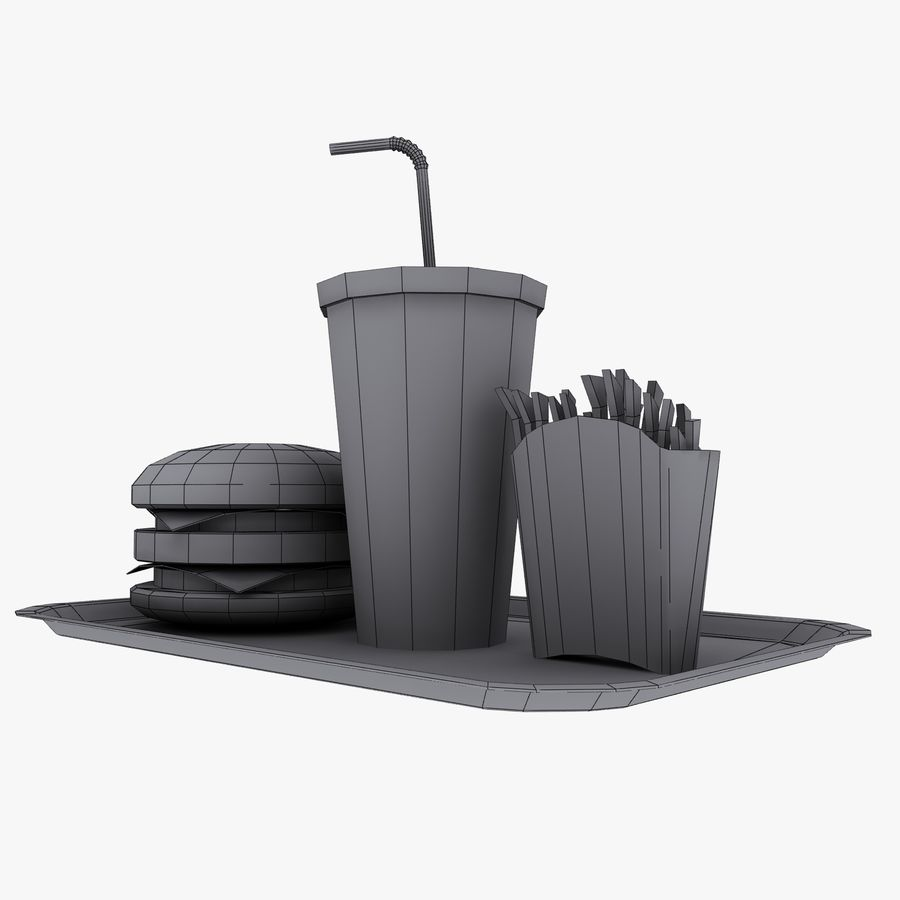 Fast Food royalty-free 3d model - Preview no. 17