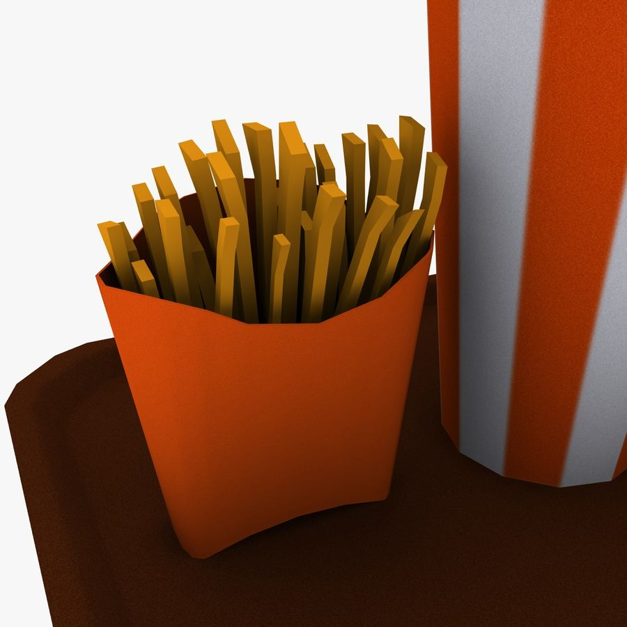 Fast Food royalty-free 3d model - Preview no. 12