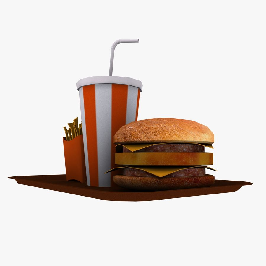 Fast Food royalty-free 3d model - Preview no. 9