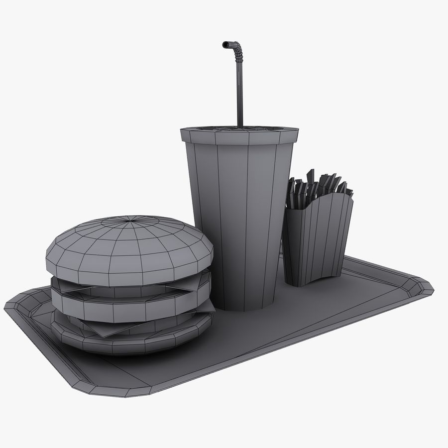 Fast Food royalty-free 3d model - Preview no. 15