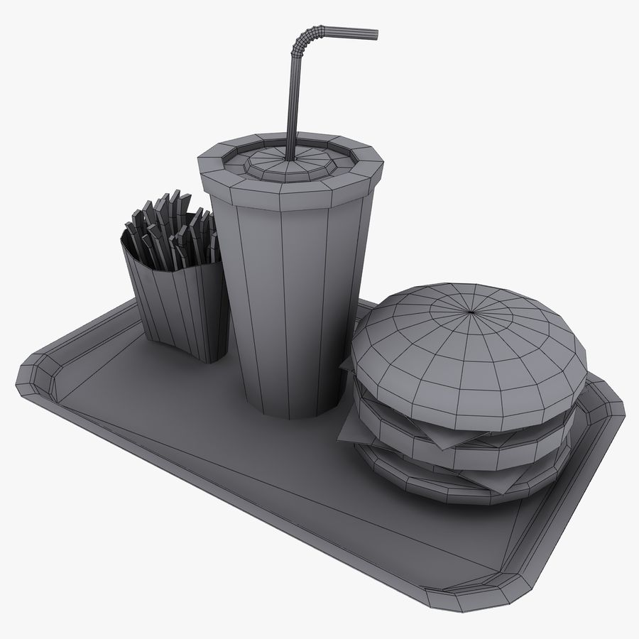 Fast Food royalty-free 3d model - Preview no. 14