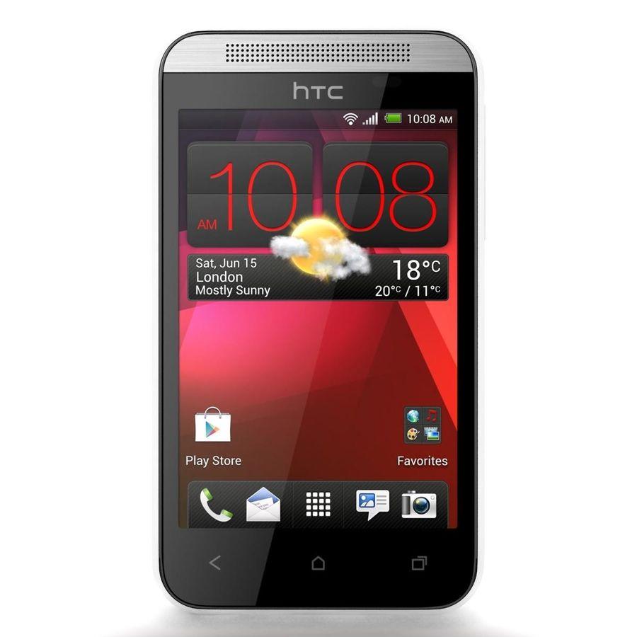 HTC Desire 200 White royalty-free 3d model - Preview no. 4