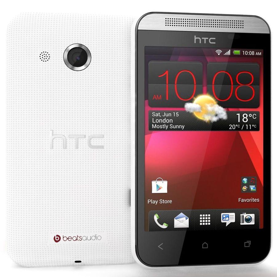 HTC Desire 200 White royalty-free 3d model - Preview no. 1
