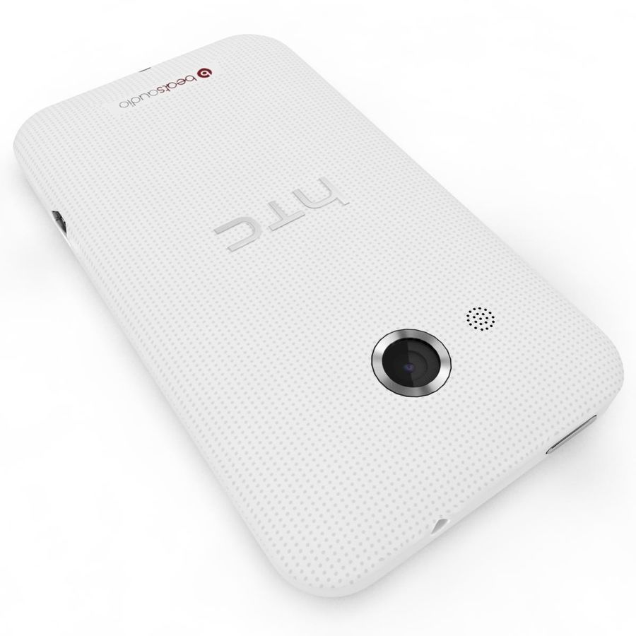 HTC Desire 200 White royalty-free 3d model - Preview no. 18