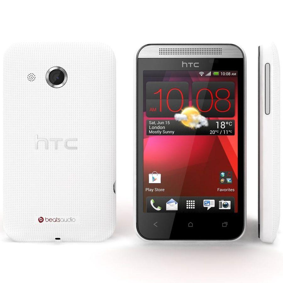 HTC Desire 200 White royalty-free 3d model - Preview no. 3