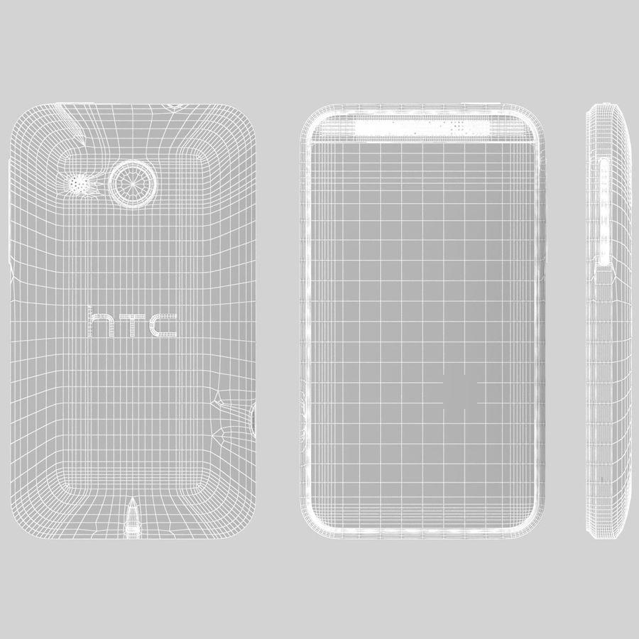 HTC Desire 200 White royalty-free 3d model - Preview no. 22