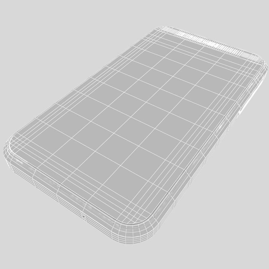 HTC Desire 200 White royalty-free 3d model - Preview no. 35
