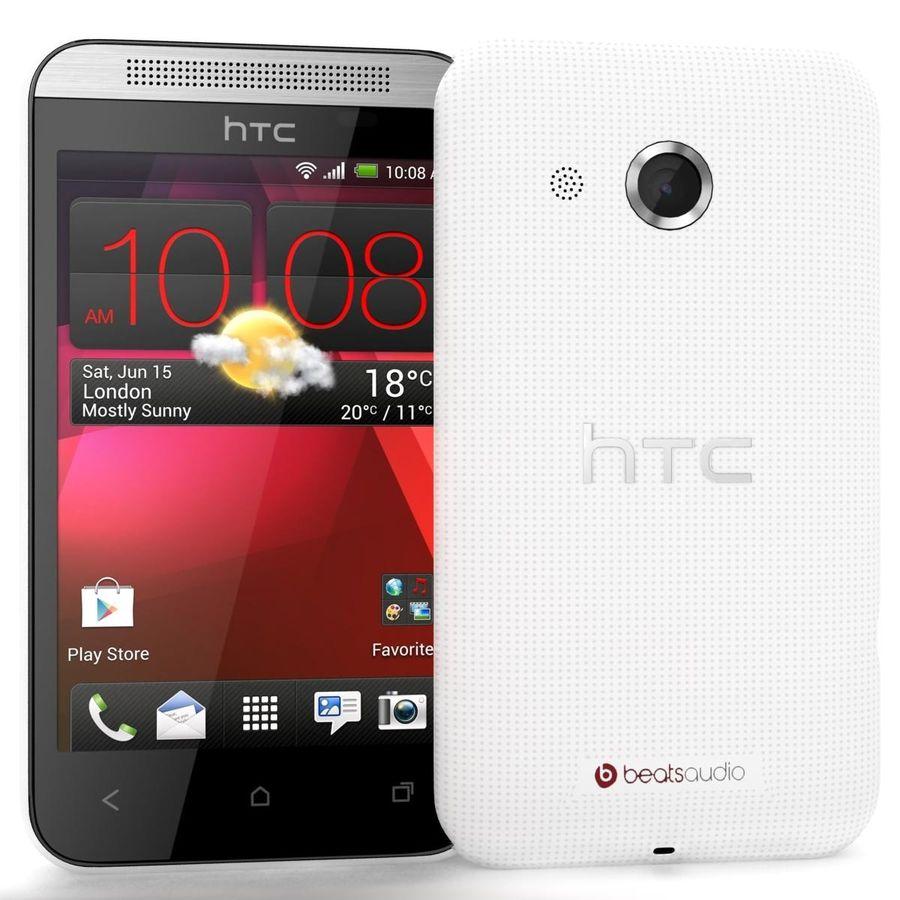 HTC Desire 200 White royalty-free 3d model - Preview no. 2