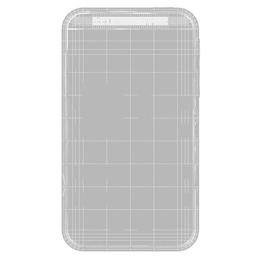 HTC Desire 200 White royalty-free 3d model - Preview no. 25