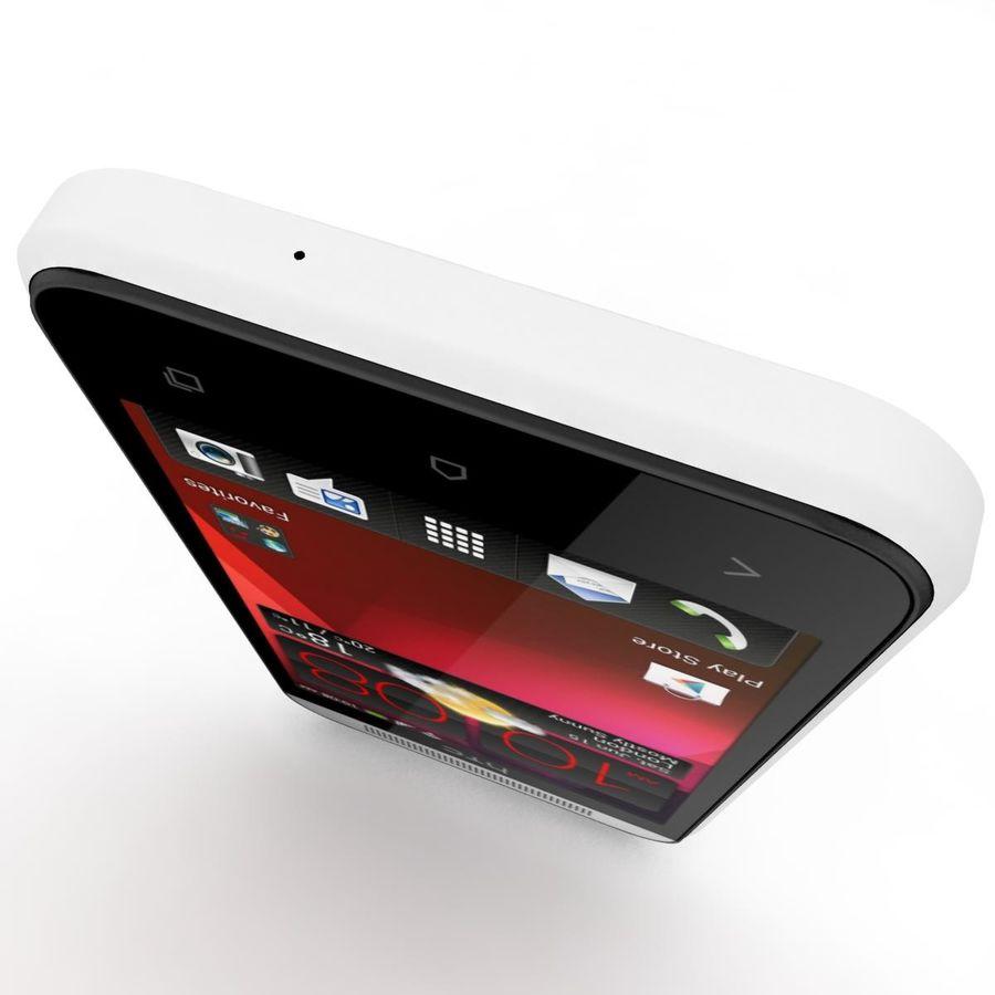 HTC Desire 200 White royalty-free 3d model - Preview no. 11
