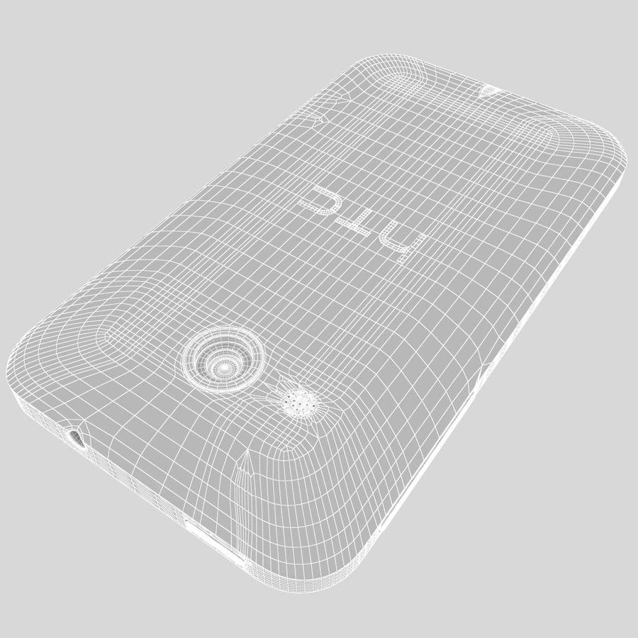 HTC Desire 200 White royalty-free 3d model - Preview no. 37