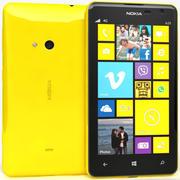 Nokia Lumia 625 желтый 3d model
