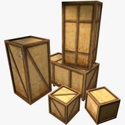 Kontrplak kargo kutuları. Ayarlamak! Oyun hazır! 3d model