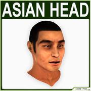 Low Poly Asian Male Head 3d model