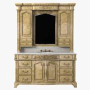 Domowa szafka pod umywalkę Ambella z podświetlanym lustrem Hutch 3d model