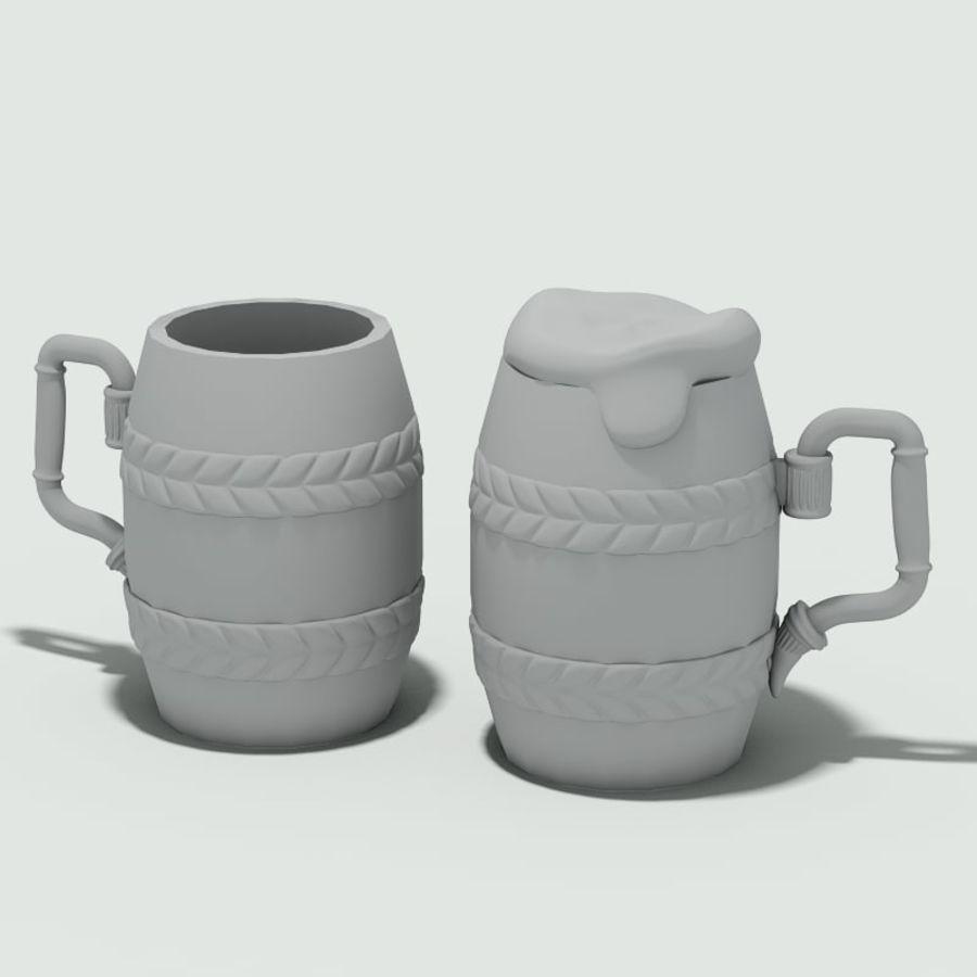 古代啤酒杯 royalty-free 3d model - Preview no. 6