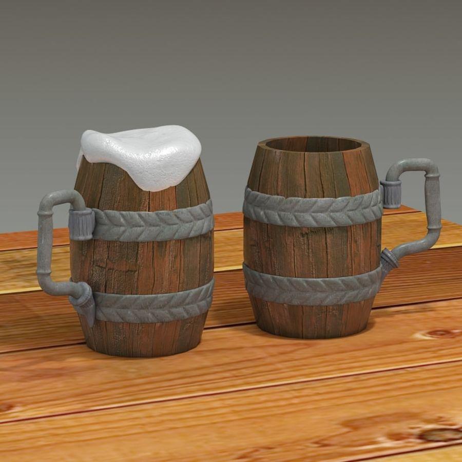 古代啤酒杯 royalty-free 3d model - Preview no. 2