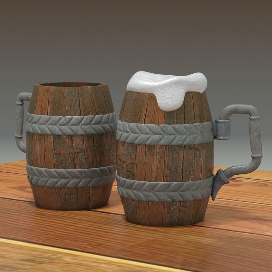 古代啤酒杯 royalty-free 3d model - Preview no. 3
