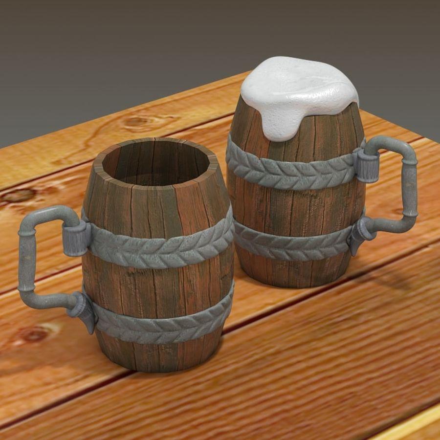 古代啤酒杯 royalty-free 3d model - Preview no. 4