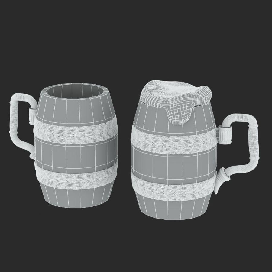 古代啤酒杯 royalty-free 3d model - Preview no. 7