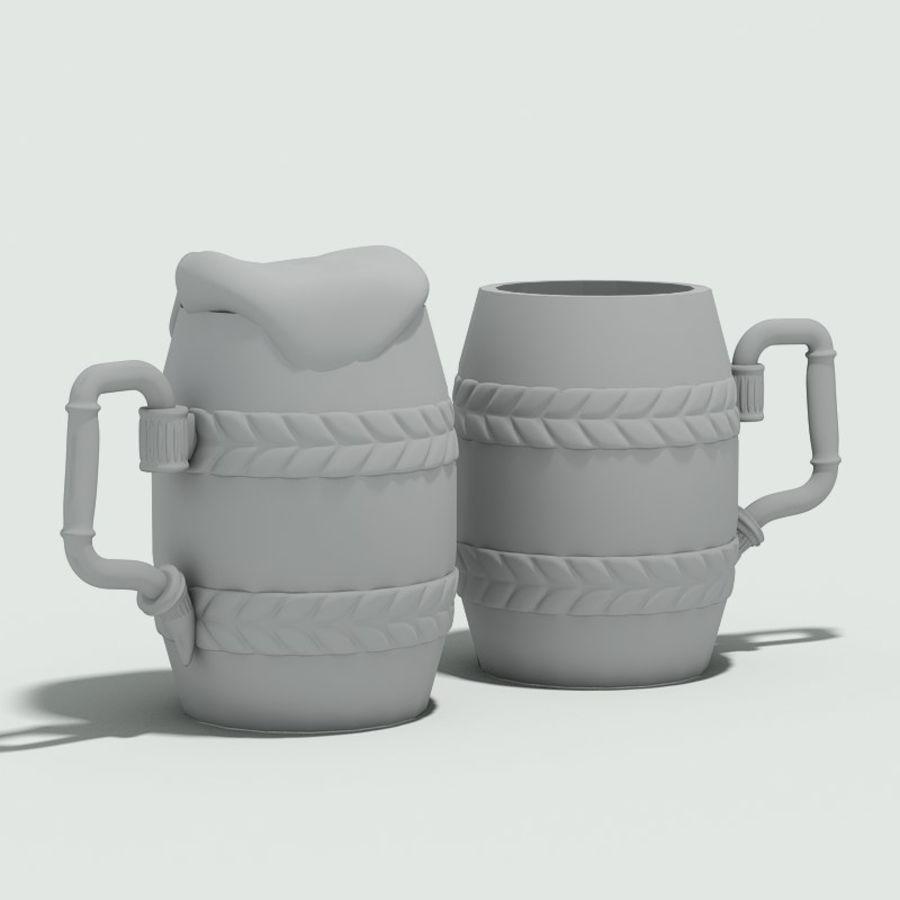古代啤酒杯 royalty-free 3d model - Preview no. 5
