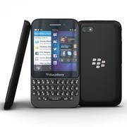 BlackBerry Q5 Preto 3d model