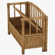 Bamboo Storage Bench 3d model