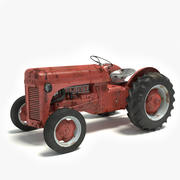 Old Rusty Tractor 3d model