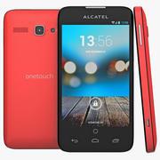 Alcatel One Touch Snap LTE czerwony 3d model